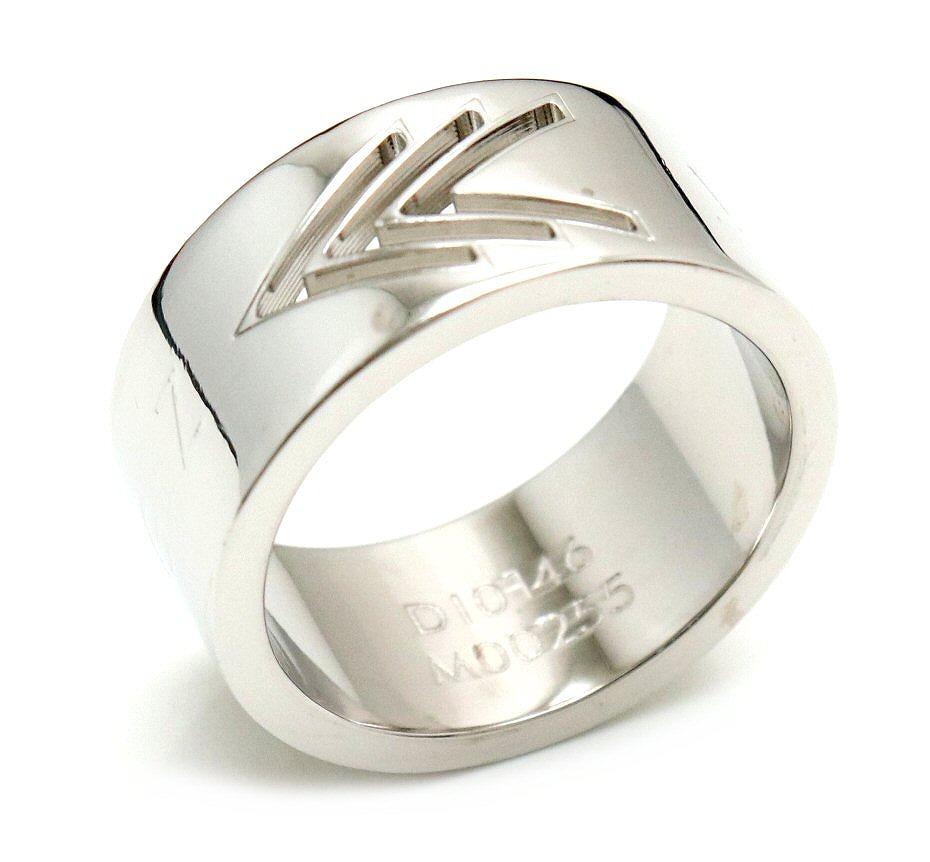 【新品仕上げ済】【ジュエリー】LOUIS VUITTON ルイ ヴィトン VVVリング モノグラム 指輪 Mサイズ #19 シルバー M00255 【中古】【k】