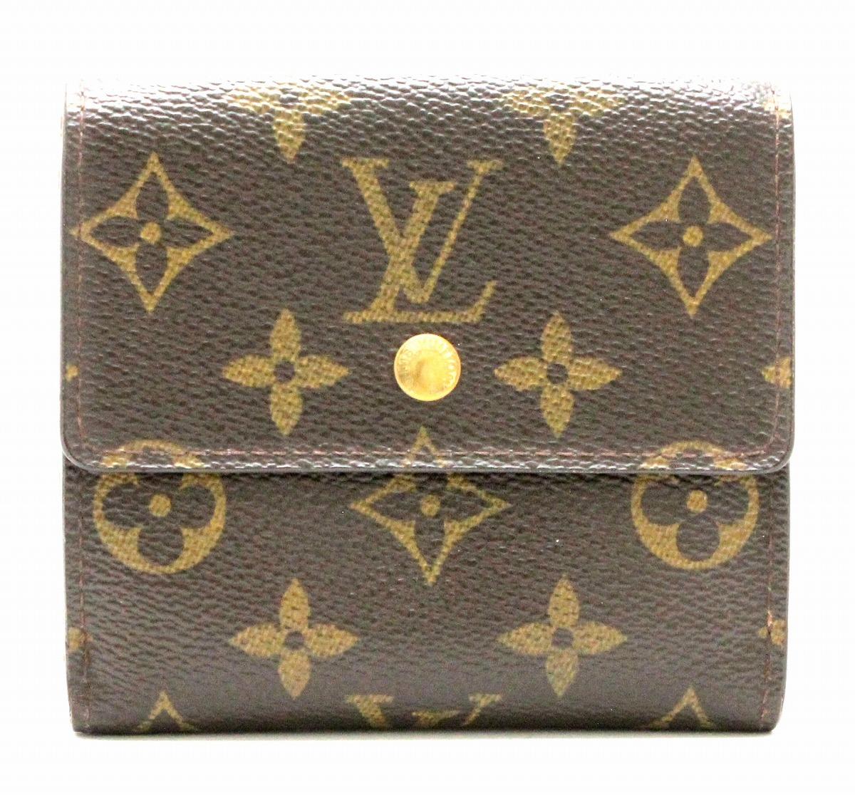 【財布】LOUIS VUITTON ルイ ヴィトン モノグラム ポルトモネ ビエ カルト クレディ ダブルホック財布 Wホック財布 made in U.S.A. M61652 【中古】【k】