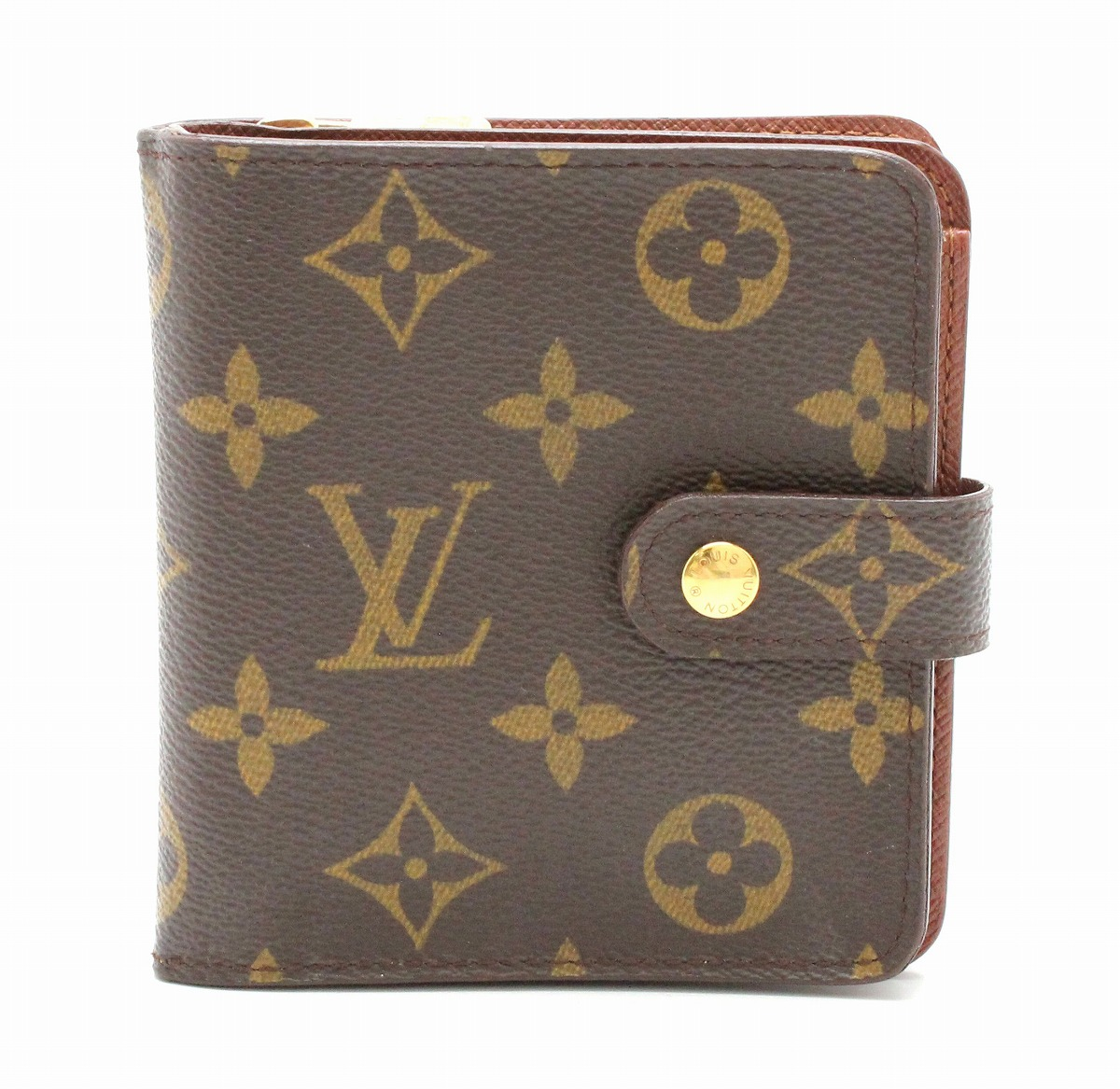 【財布】LOUIS VUITTON ルイ ヴィトン モノグラム コンパクトジップ コの字型 2つ折ファスナー財布 M61667 【中古】【k】