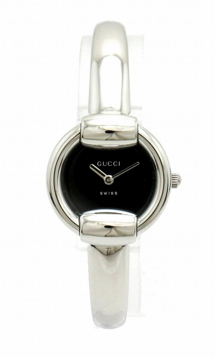 【ウォッチ】GUCCI グッチ ブラック文字盤 SS レディース QZ クォーツ 腕時計 1400L 【中古】【k】
