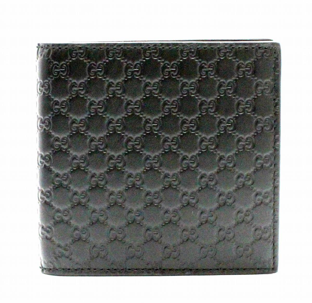 dc1d7e69e755 【財布】GUCCIグッチマイクログッチシマ2つ折財布レザー黒ブラックアウトレット品150413534563