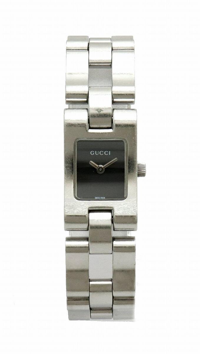 【ウォッチ】GUCCI グッチ ブラック文字盤 レディース クォーツ 腕時計 2305L 【中古】【k】