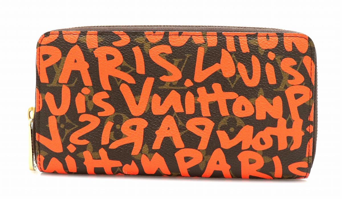 【財布】LOUIS VUITTON ルイ ヴィトン グラフィティ ジッピーウォレット ラウンドファスナー 長財布 スティーブン スプラウス オランジュ M93711 【中古】【k】