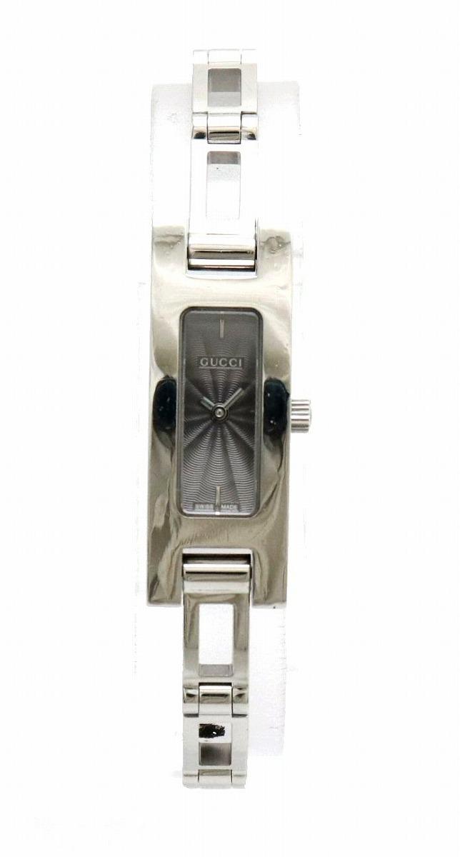 【ウォッチ】GUCCI グッチ グレー文字盤 SS レディース QZ クォーツ 腕時計 3900L 【中古】【k】