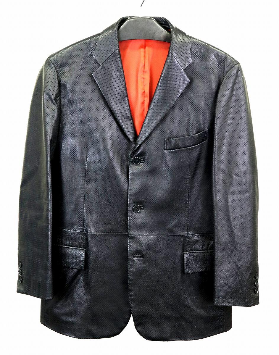 【アパレル】Theory セオリー レディース アウター ジャケット サイズ42 羊革 レザー ブラック 黒 【中古】【k】