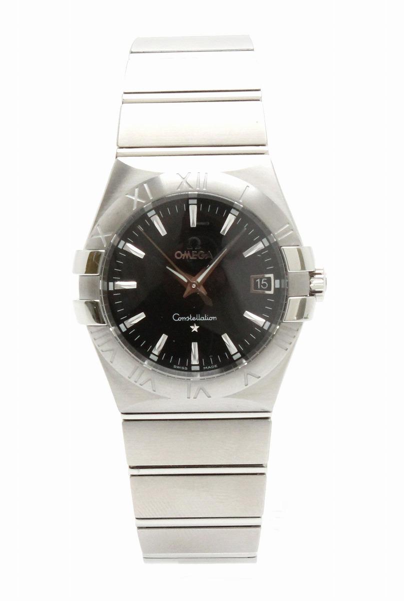 【新品未使用品】【ウォッチ】OMEGA オメガ コンステレーション デイト 35mm ブラック文字盤 メンズ QZ クォーツ 腕時計 123.10.35.60.01.001【k】