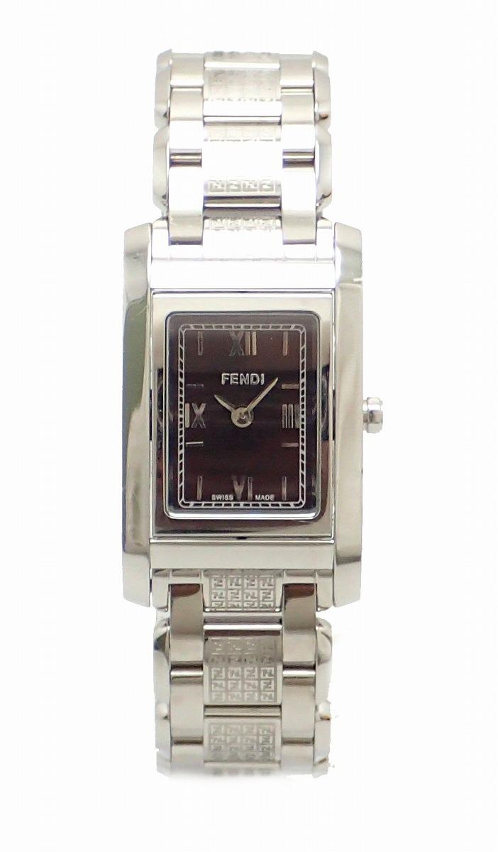 【ウォッチ】FENDI フェンディ ブラウン文字盤 SS レディース QZ クォーツ 腕時計 7600L 【中古】【k】