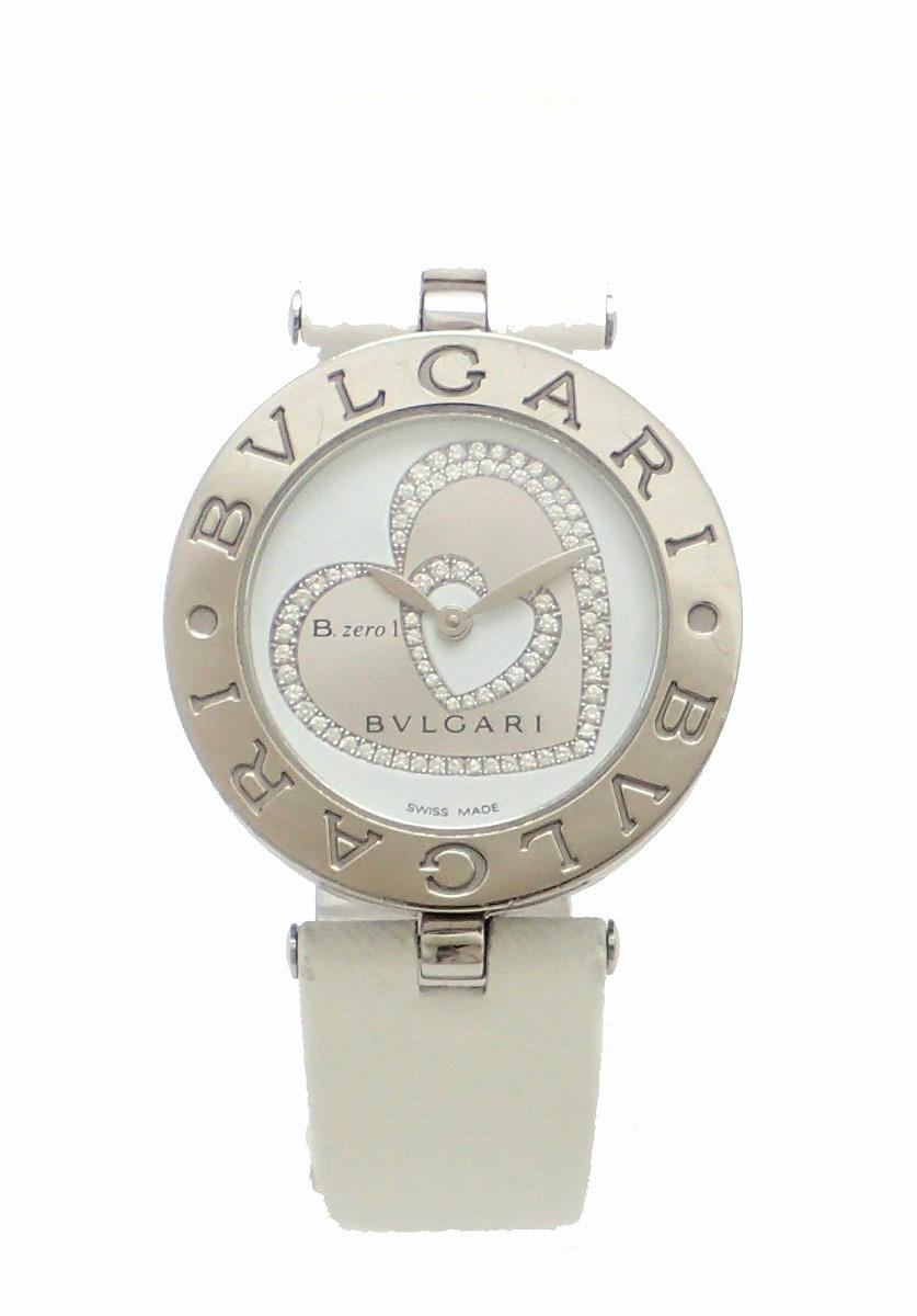 【ウォッチ】BVLGARI ブルガリ B.zero1 B-zero1 Bzero1 ビーゼロワン ダブルハート ダイヤ文字盤 30mm レディース QZ クォーツ 腕時計 BZ30S 【中古】【k】