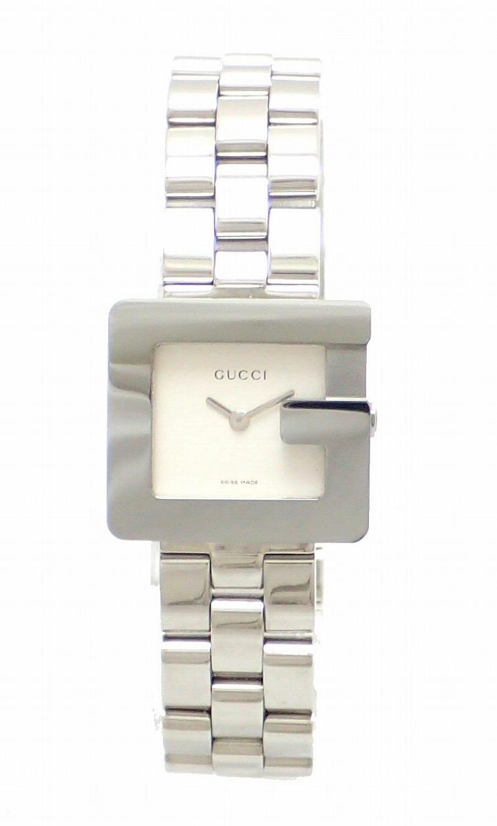 【ウォッチ】GUCCI グッチ Gモチーフ Gロゴ シルバー文字盤 レディース QZ クォーツ 腕時計 3600L 【中古】【k】