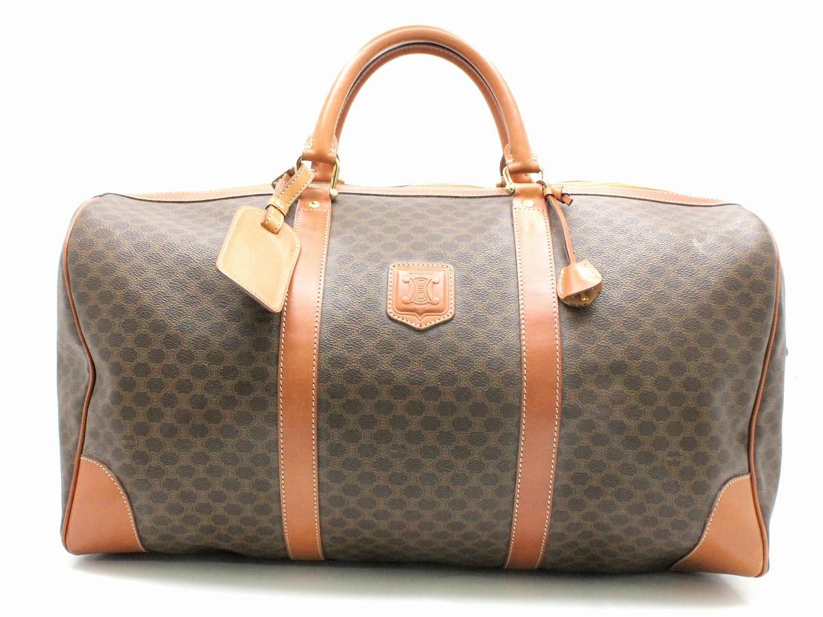 6413e7b1665e 【バッグ】CELINEセリーヌマカダム柄ボストンバッグハンドバッグ旅行バッグトラベルバッグPVCレザー
