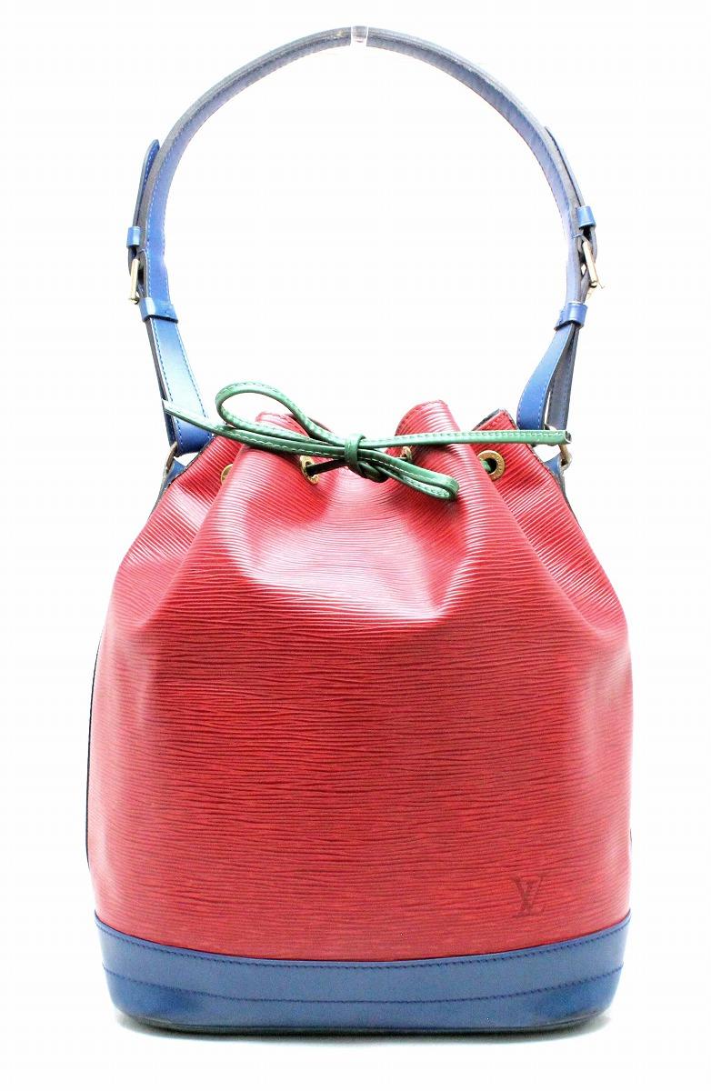 【バッグ】LOUIS VUITTON ルイ ヴィトン エピ トリコロール ノエ 巾着 ショルダーバッグ セミショルダー カスティリアンレッド トレドブルー グリーン M44084 【中古】【k】