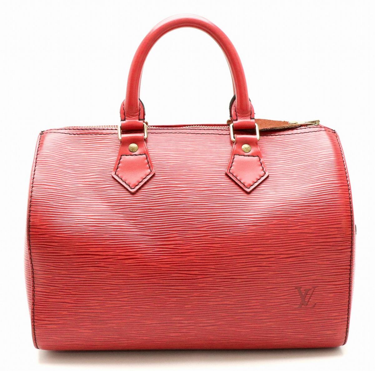 【バッグ】LOUIS VUITTON ルイ ヴィトン エピ スピーディ25 ハンドバッグ ボストンバッグ レザー カスティリアンレッド 赤 M43017 【中古】【k】