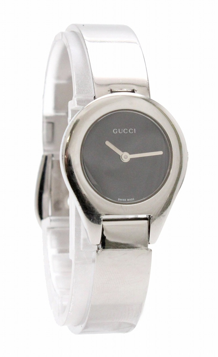 【ウォッチ】GUCCI グッチ ブラック文字盤 SS レディース QZ クォーツ 腕時計 6700L 【中古】【k】