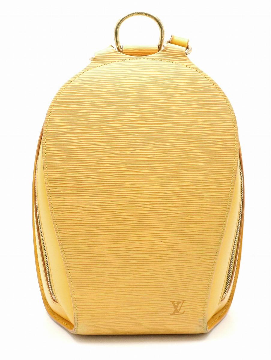 【バッグ】LOUIS VUITTON ルイ ヴィトン エピ マビヨン リュック リュックサック ショルダーバッグ バックパック タッシリイエロー 黄色 M52239 【中古】【k】