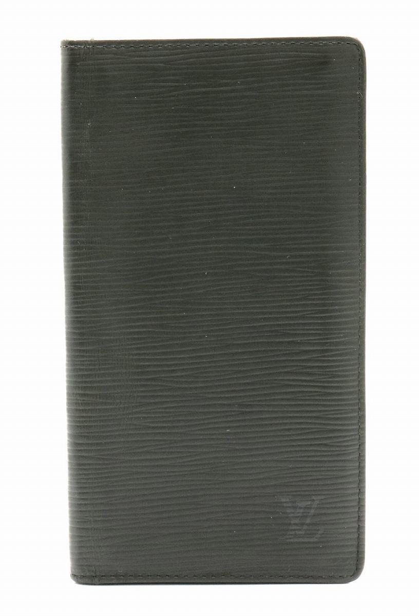 【財布】LOUIS VUITTON ルイ ヴィトン エピ ポルトカルト クレディ 円 2つ折 長札入れ 長財布 レザー ノワール 黒 ブラック M63212 【中古】【k】