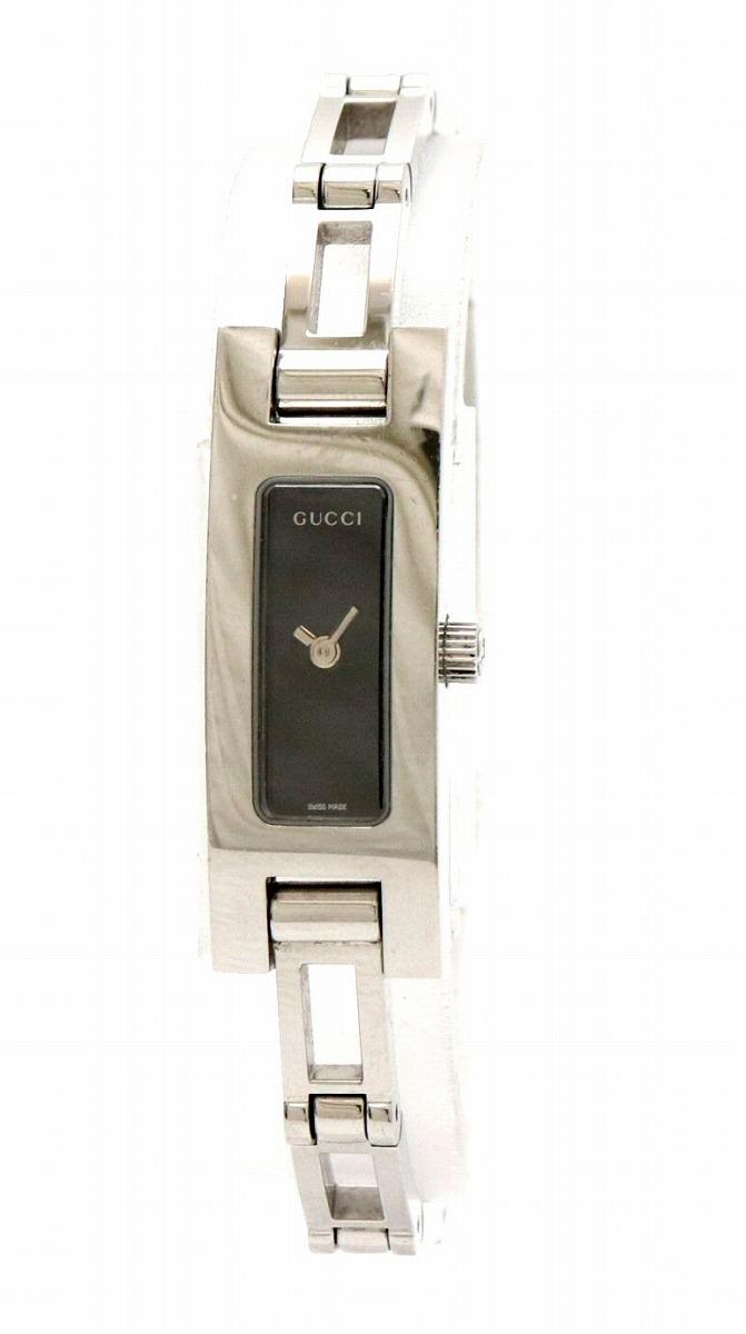 【ウォッチ】GUCCI グッチ ブラック文字盤 SS レディース QZ クォーツ 腕時計 3900L 【中古】【k】