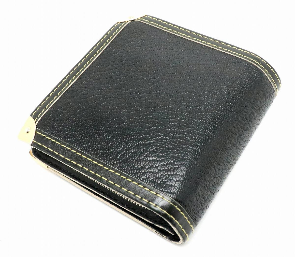 d030c20c7cf8 ... 財布】LOUISVUITTONルイヴィトンスハリコンパクトジップ2つ折財布レザーノワール黒ブラック ...