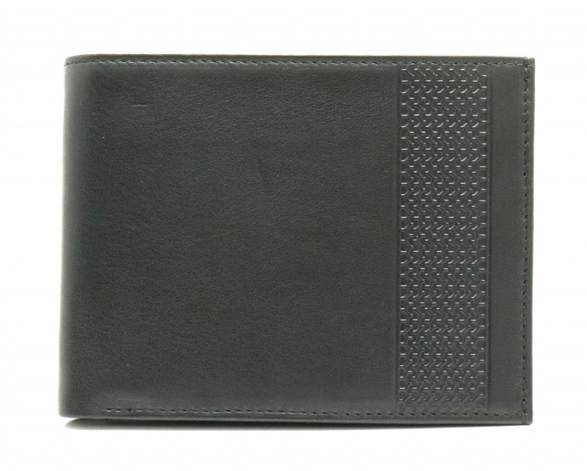 【未使用品】【財布】Chopard ショパール 二つ折り財布 レザー ブラック 黒 シルバー金具 【中古】【k】