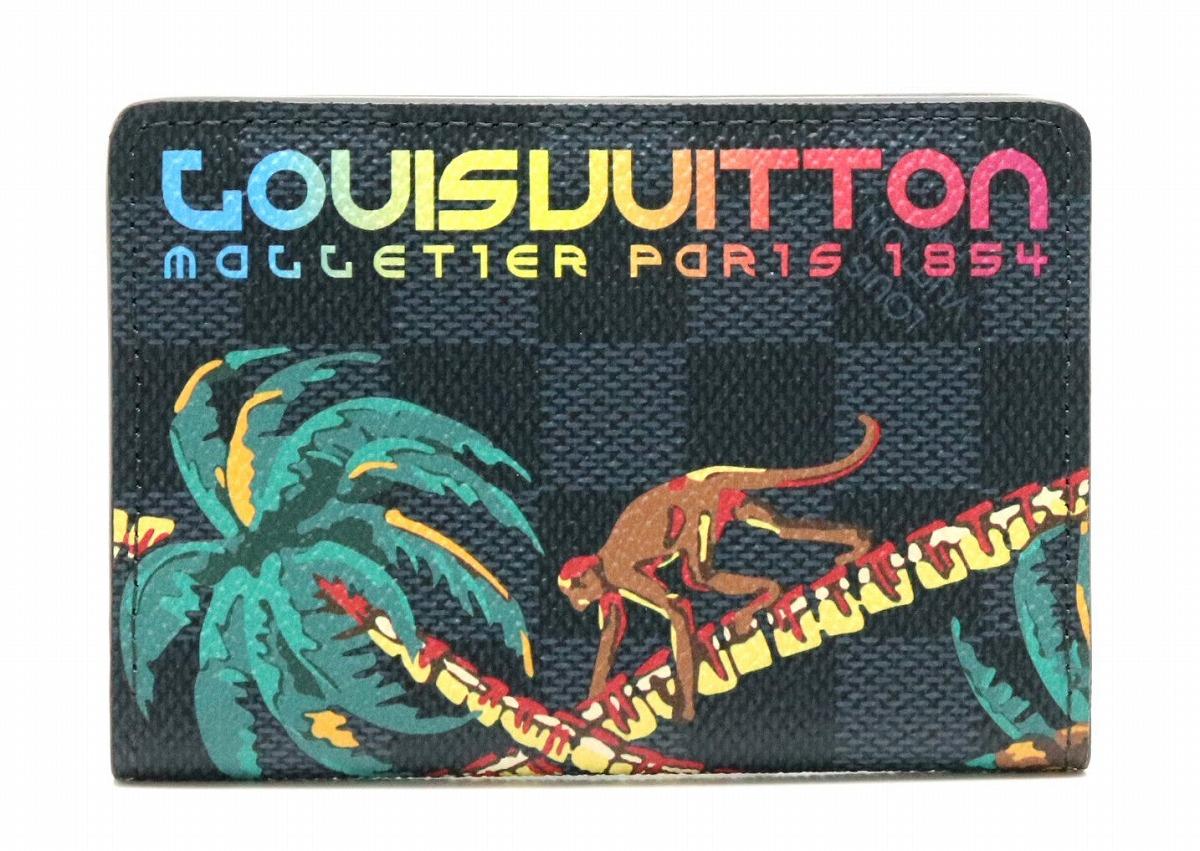 LOUIS VUITTON ルイ ヴィトン ダミエコバルト オーガナイザー ドゥ ポッシュ カードケース 名刺入れ パスケース ジャングル N63508 【中古】【k】