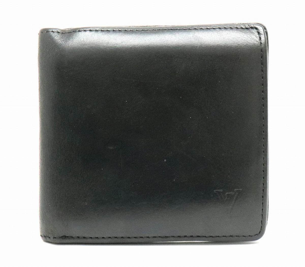 【財布】LOUIS VUITTON ルイ ヴィトン ノマド ポルトフォイユ マルコ 2つ折財布 ノワール 黒 ブラック M85016 【中古】【k】