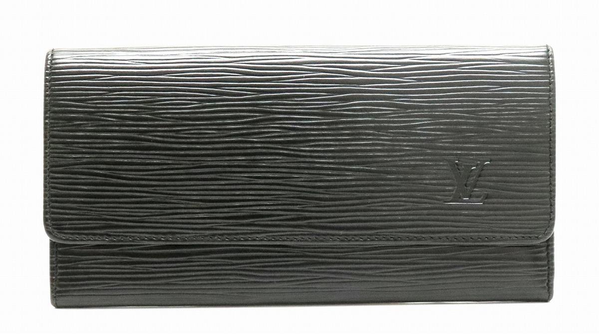 【財布】LOUIS VUITTON ルイ ヴィトン エピ ポルトエン 長札入れ レザー ノワール 黒 ブラック M63602 【中古】【k】