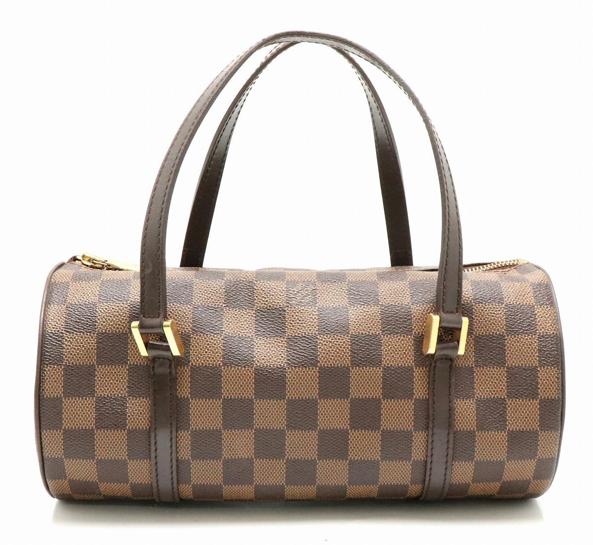 【バッグ】LOUIS VUITTON ルイ ヴィトン ダミエ パピヨンPM パピヨン26 ハンドバッグ 筒型 N51304 【中古】【k】