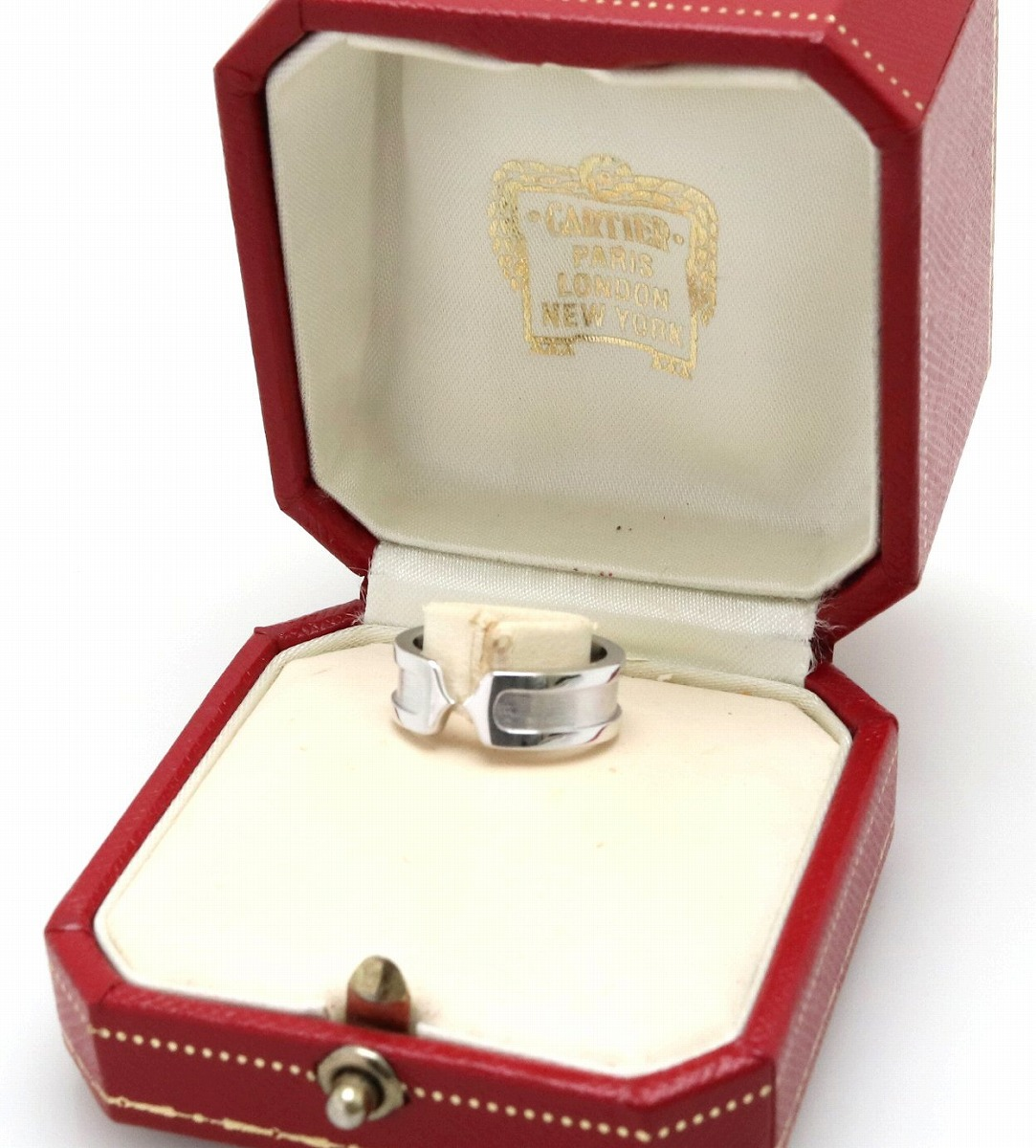 S様ご予約品 ジュエリー Cartier カルティエ 2C ロゴ モチーフ リング 指輪 K18WG ホワイトゴールド 9号49 C2 B4040500 B4040549kIgbfY76yv