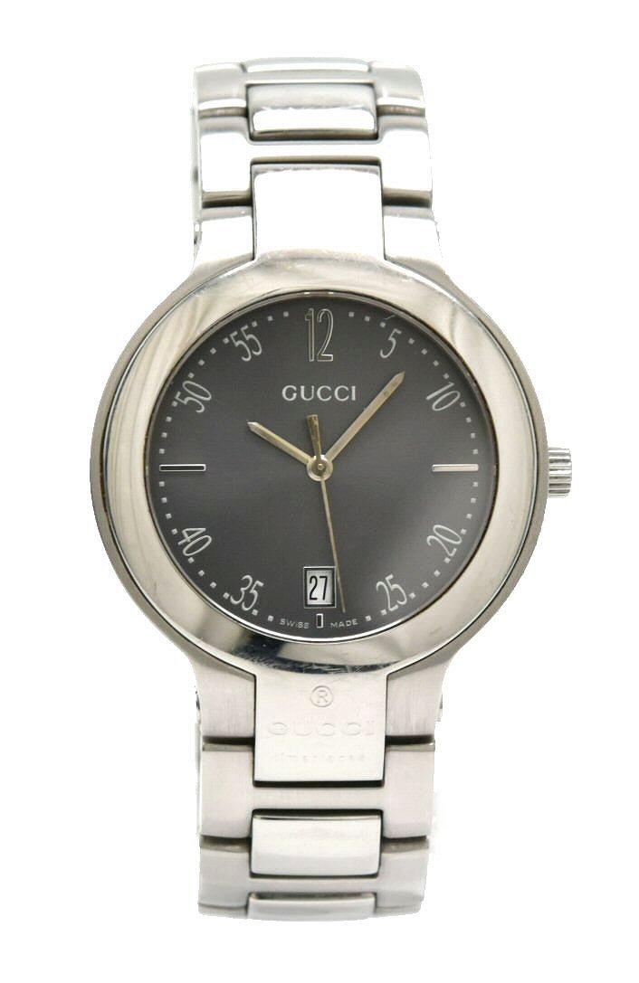 【ウォッチ】GUCCI グッチ デイト グレー文字盤 SS メンズ QZ クォーツ 腕時計 8900M 【中古】【k】