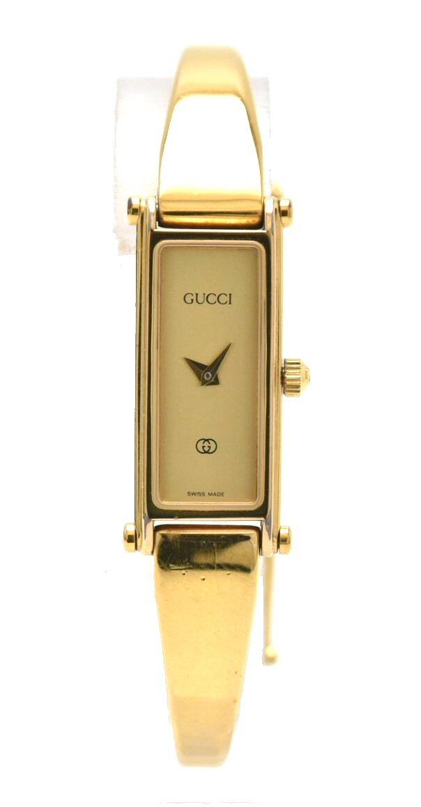 【ウォッチ】GUCCI グッチ ゴールド文字盤 GP ゴールドカラー レディース クォーツ 腕時計 1500L 【中古】【k】