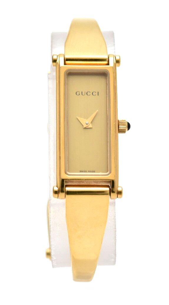 【ウォッチ】GUCCI グッチ ゴールド文字盤 GP ゴールドカラー Sサイズ レディース クォーツ 腕時計 1500L 【中古】【k】