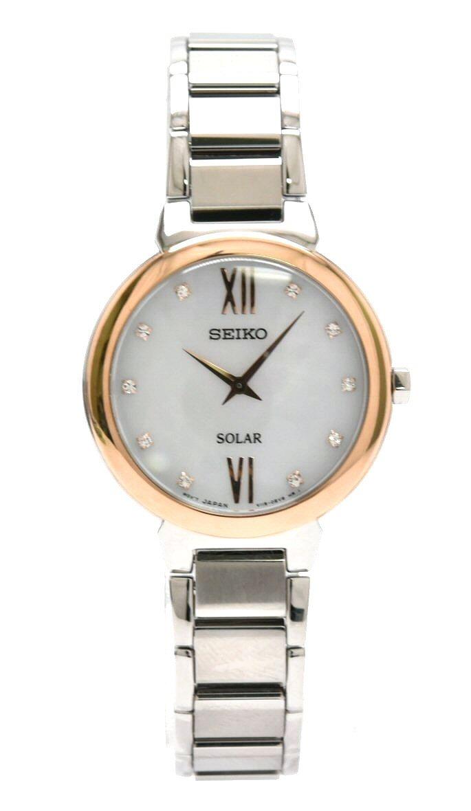 【新品未使用品】【ウォッチ】SEIKO セイコー レディース ソーラー 電波時計 腕時計 10Pダイヤモンド シェル文字盤 SUP382P1 V115-0CT0【k】
