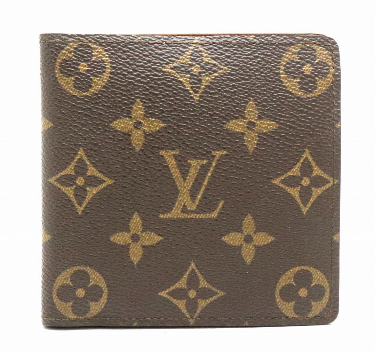 【財布】LOUIS VUITTON ルイ ヴィトン モノグラム ポルト ビエ カルト クレディ モネ 2つ折財布 M61665 【中古】【k】