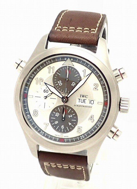 【未使用品】【ウォッチ】IWC インターナショナル ウォッチ カンパニー スピットファイヤ ダブルクロノグラフ オートマ メンズ 腕時計 IW371802 【中古】【k】