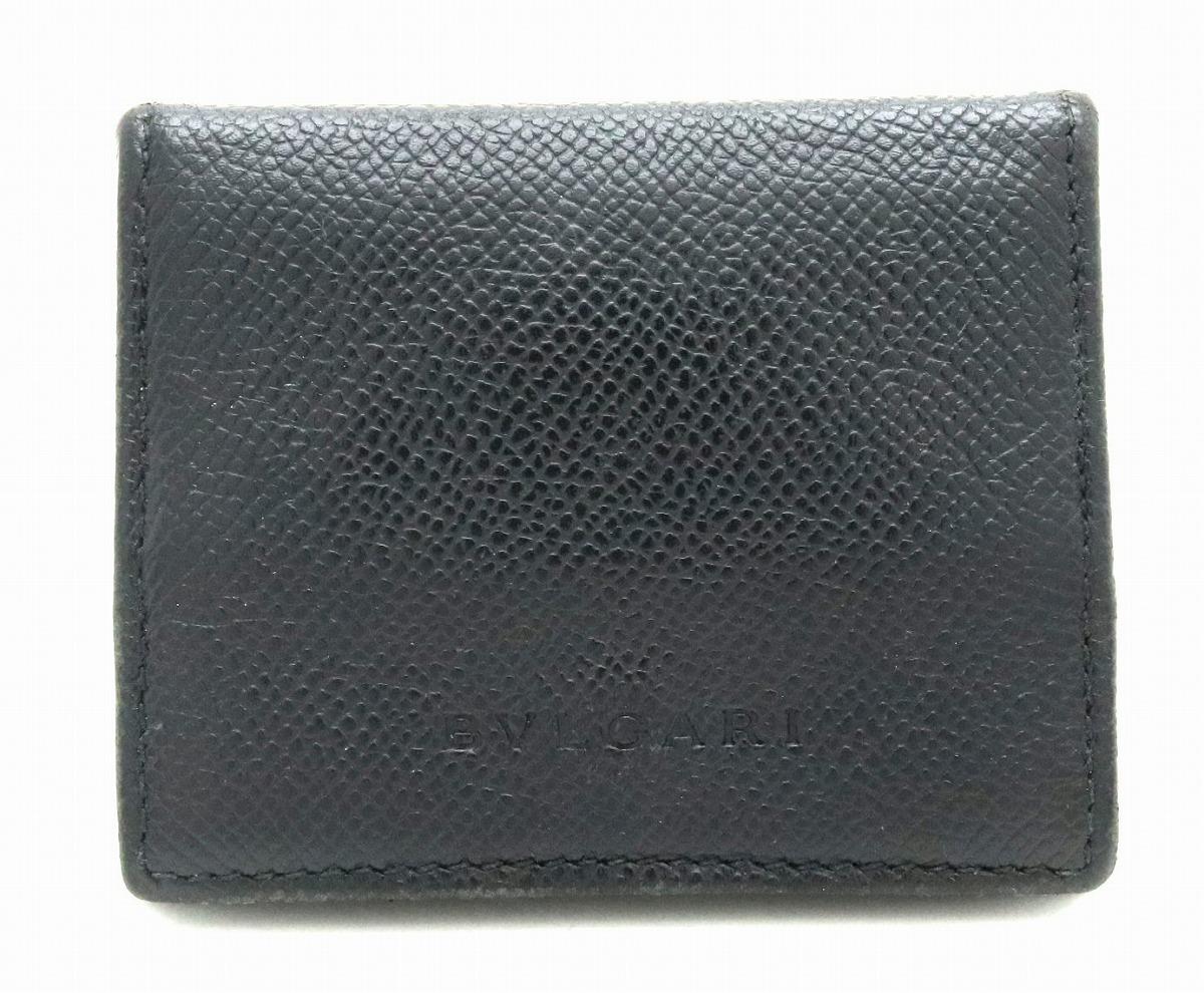 【財布】BVLGARI ブルガリ クラシコ コインケース 小銭入れ カーフ レザー 黒 ブラック 20371 【中古】【k】