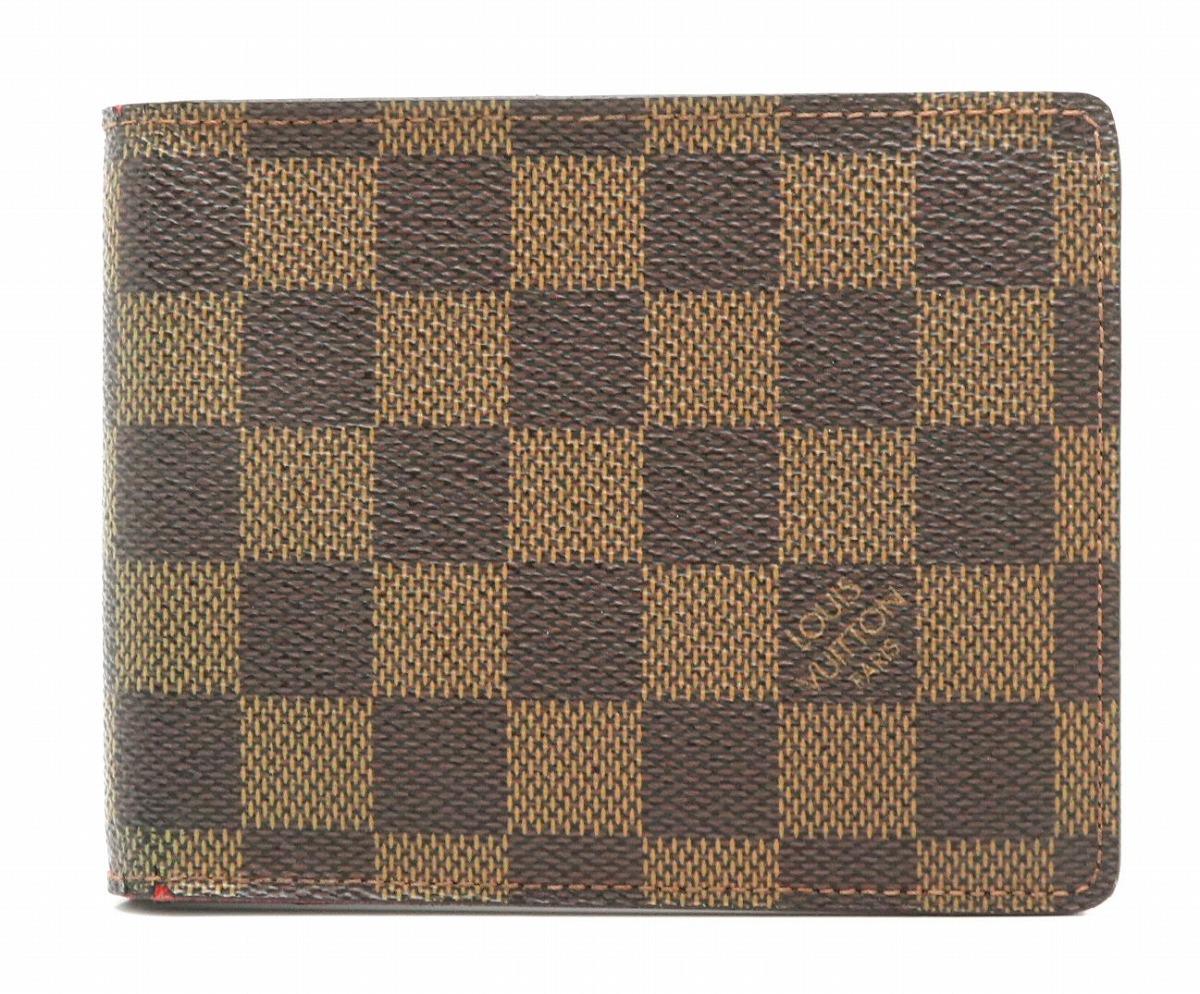 【財布】LOUIS VUITTON ルイ ヴィトン ダミエ ポルトフォイユ フロリン 2つ折財布 N60011 【中古】【k】