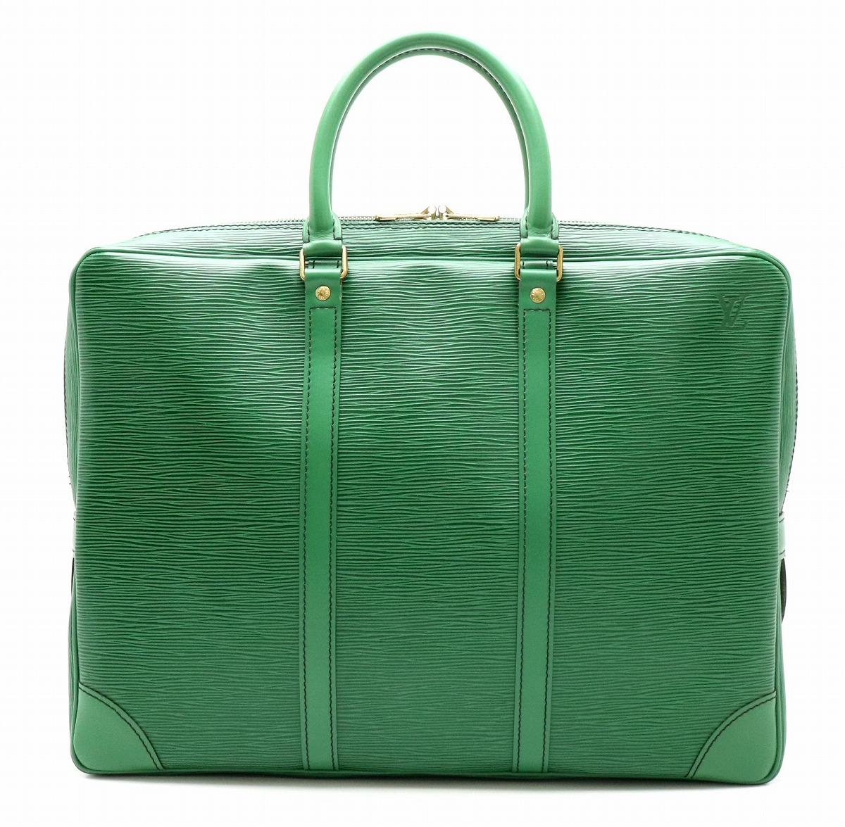 【バッグ】LOUIS VUITTON ルイ ヴィトン エピ ヴォワヤージュ ビジネスバッグ 書類カバン ブリーフケース レザー ボルネオグリーン 緑 M54474 【中古】【k】