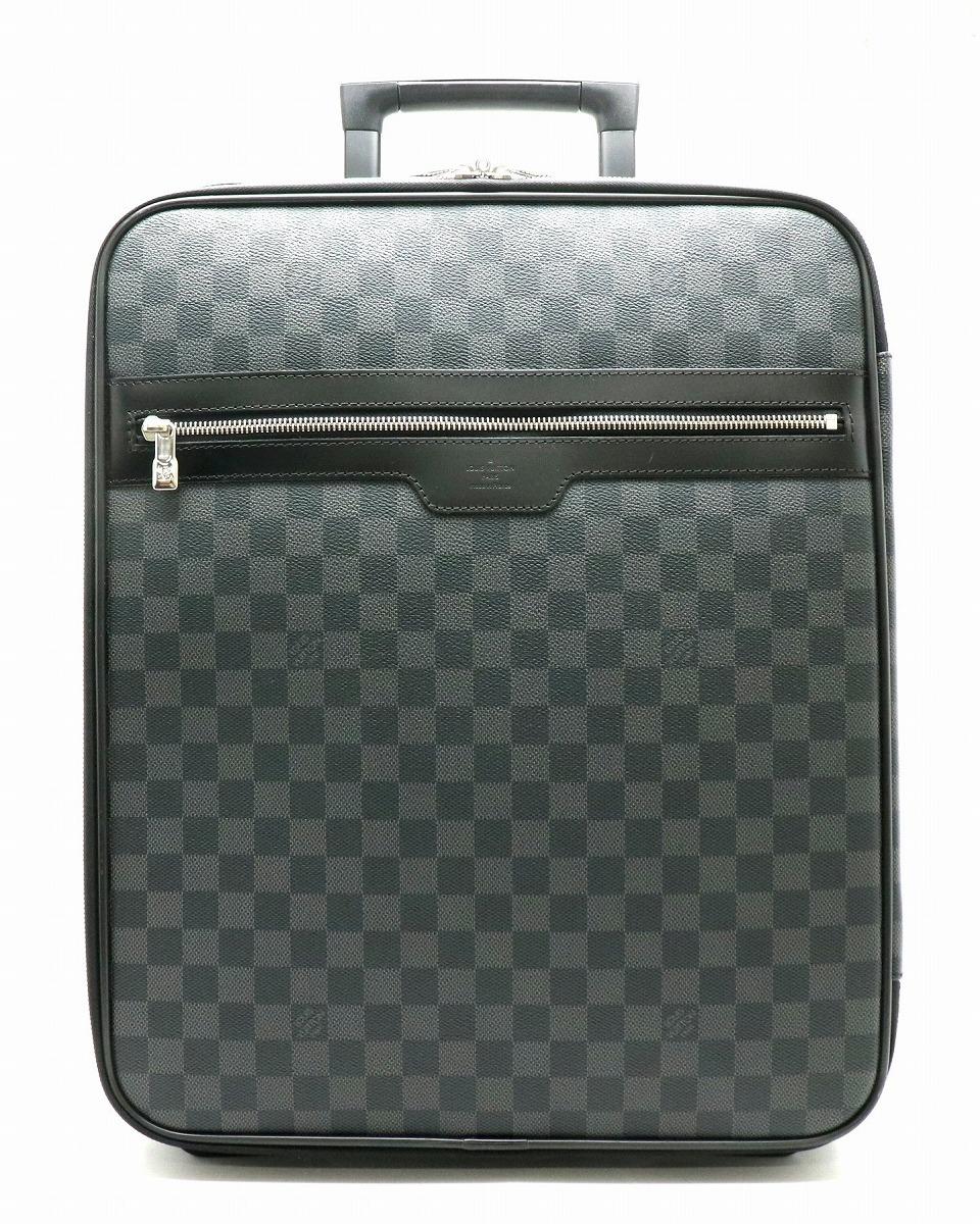 【バッグ】LOUIS VUITTON ルイ ヴィトン ダミエグラフィット ペガス45 スーツケース キャリーバッグ キャリーケース トラベルケース トロリーバッグ 旅行 N23302 【中古】【k】