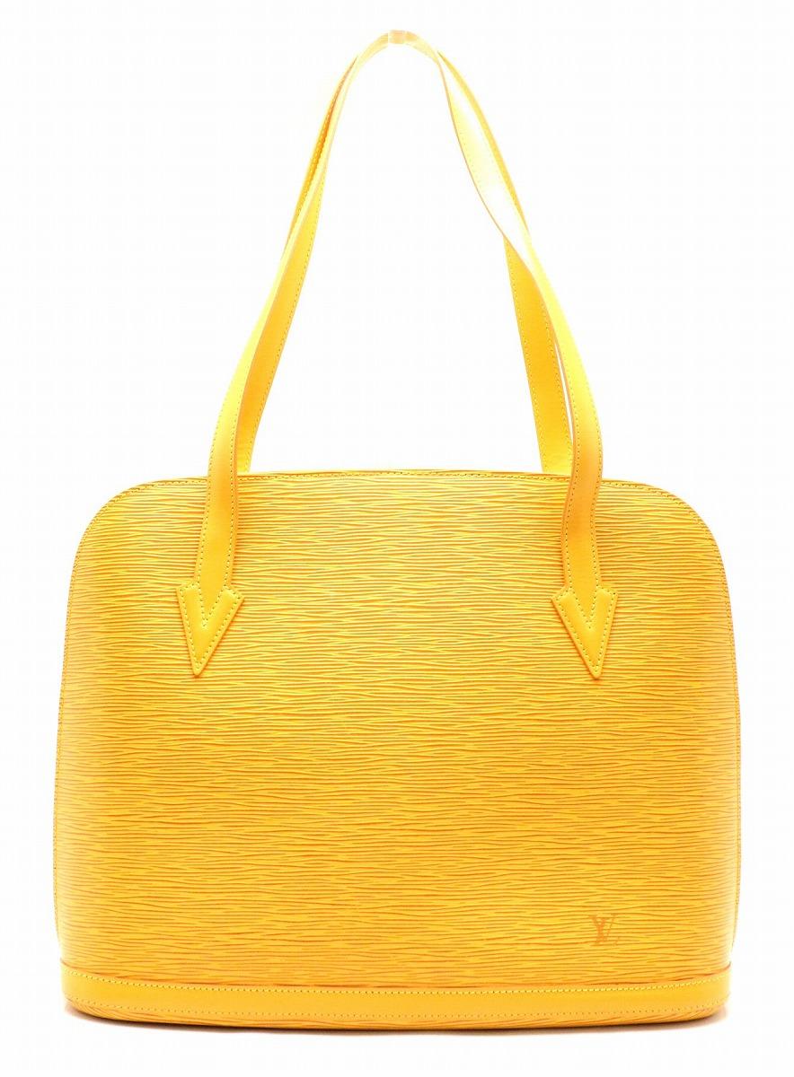【バッグ】LOUIS VUITTON ルイ ヴィトン エピ リュサック ショルダーバッグ トートバッグ ショルダートート レザー タッシリイエロー 黄色 M52289 【中古】【k】