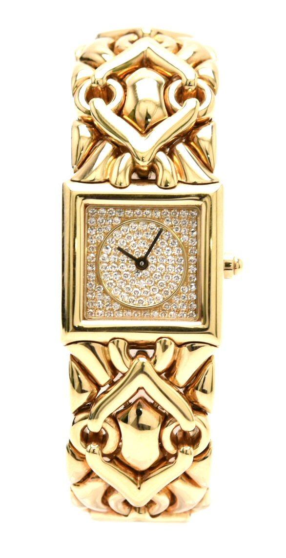 【ウォッチ】BVLGARI ブルガリ トリカ ダイヤ文字盤 K18YG イエローゴールド レディース クォーツ 腕時計 BJ06 【中古】【k】