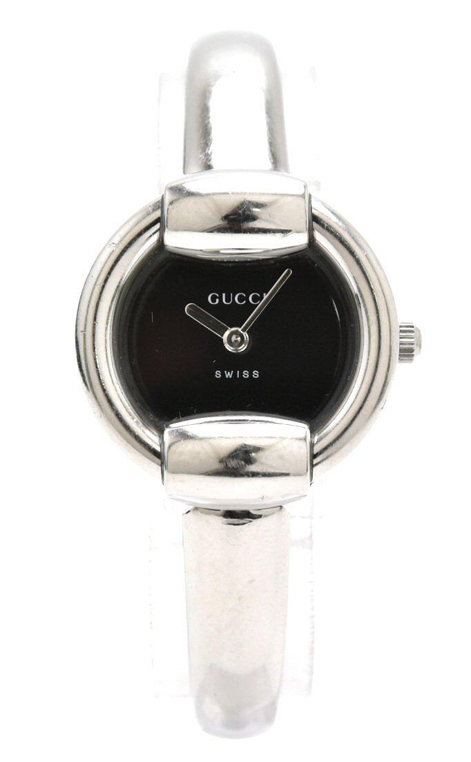 【ウォッチ】GUCCI グッチ 黒文字盤 SS レディース QZ クォーツ 腕時計 1400L 【中古】【k】