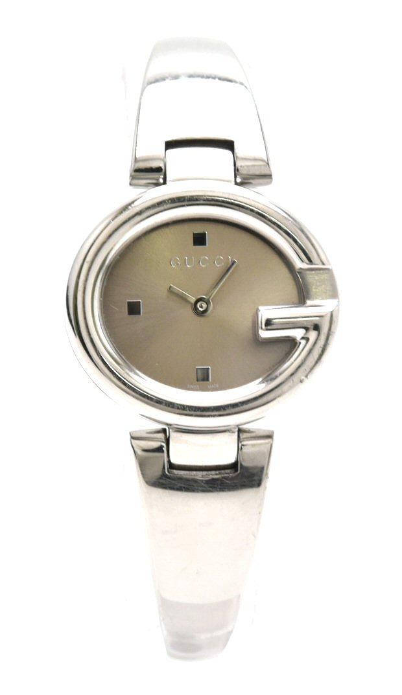 【ウォッチ】GUCCI グッチ バングル ブロンズ文字盤 SS レディース QZ クォーツ 腕時計 134.5 【中古】【k】