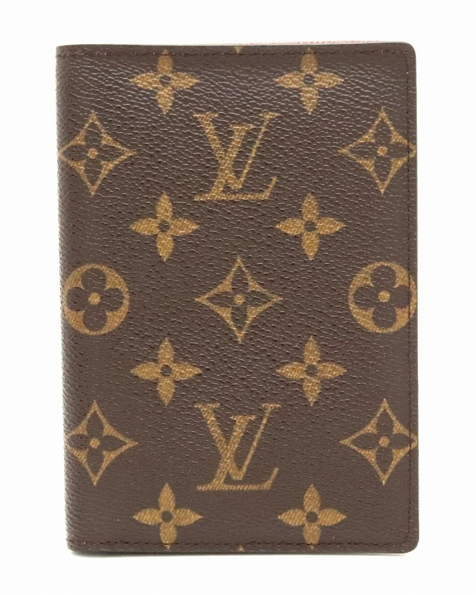【財布】LOUIS VUITTON ルイ ヴィトン モノグラム クーヴェルトゥール パスポール パスポートカバー パスポートケース ベタなし M60181 【中古】【k】