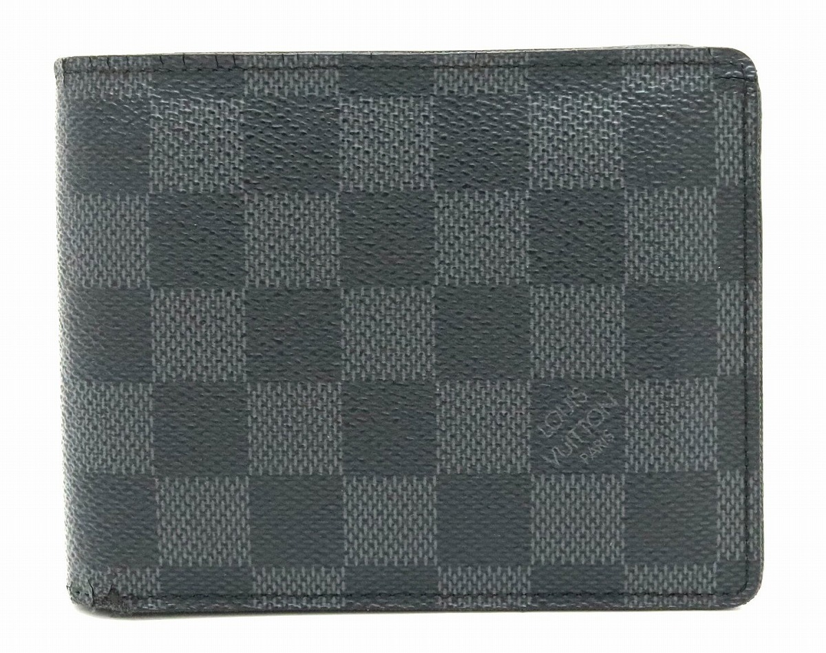 【財布】LOUIS VUITTON ルイ ヴィトン ダミエグラフィット ポルトフォイユ フロリン 2つ折財布 N63074 【中古】【s】