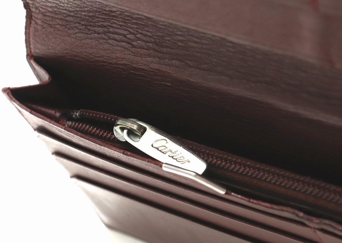 財布 Cartier カルティエ カボションライン カボション ドゥ カルティエ ウォレット 2つ折長財布 レザー カーフ 黒 ブラック ボルドー L3000585svIYbfy76g