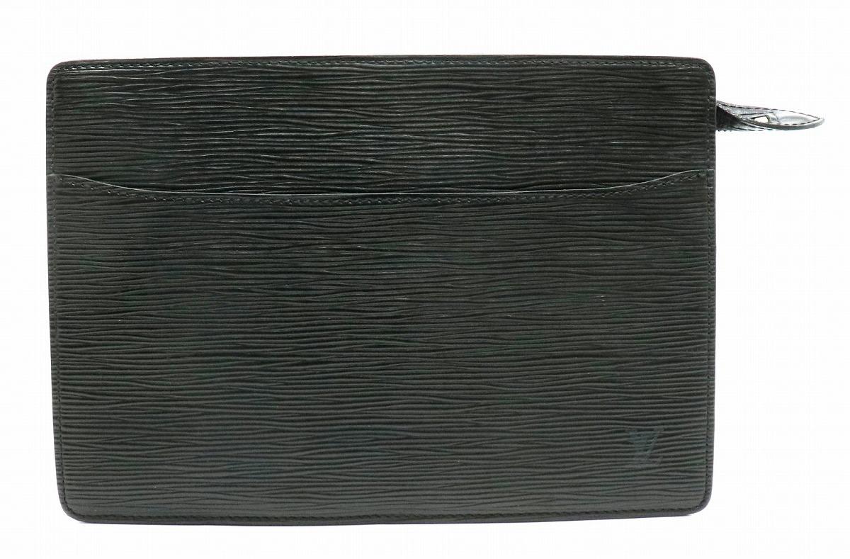 【バッグ】LOUIS VUITTON ルイ ヴィトン エピ ポシェット オム セカンドバッグ ハンドバッグ クラッチバッグ レザー ノワール 黒 ブラック M52752 【中古】【s】