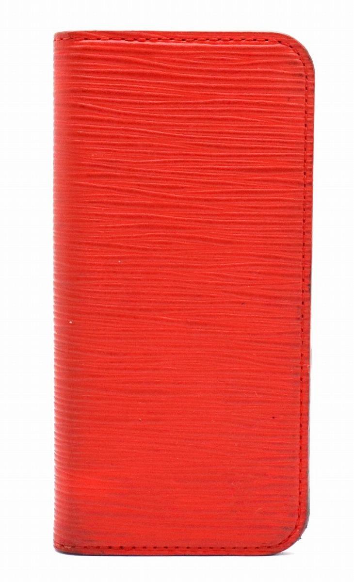 LOUIS VUITTON ルイ ヴィトン エピ iPhone6 フォリオ アイフォン6 ケース アイフォンケース スマホケース 携帯ケース カバー アイフォン レザー コクリコ レッド M56257 【中古】【s】