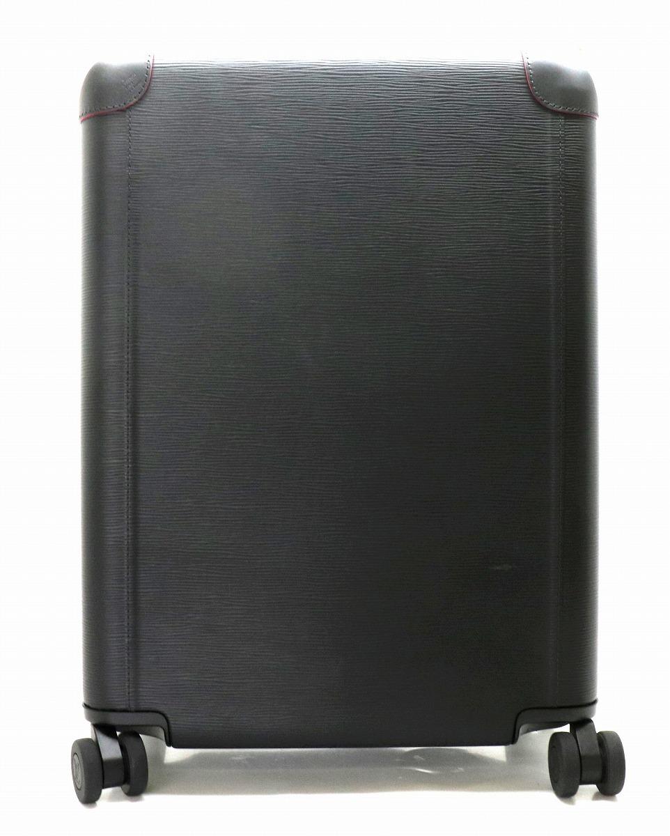 【バッグ】LOUIS VUITTON ルイ ヴィトン エピ ホライゾン55 スーツケース キャリーバッグ キャリーケース レザー ノワール 黒 フューシャ 【中古】