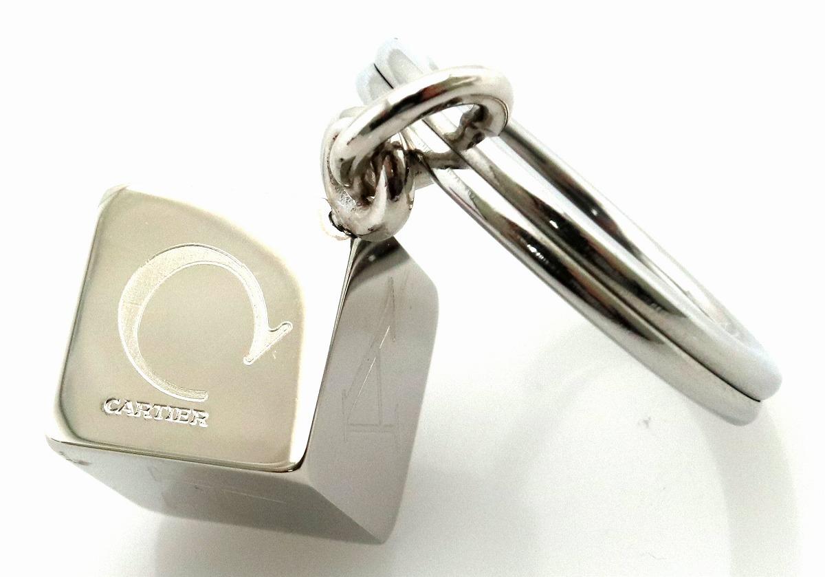新品未使用品ジュエリー Cartier カルティエ デコール ダイス キーホルダー キーリング シルバーカラー T1220156dorBeCx