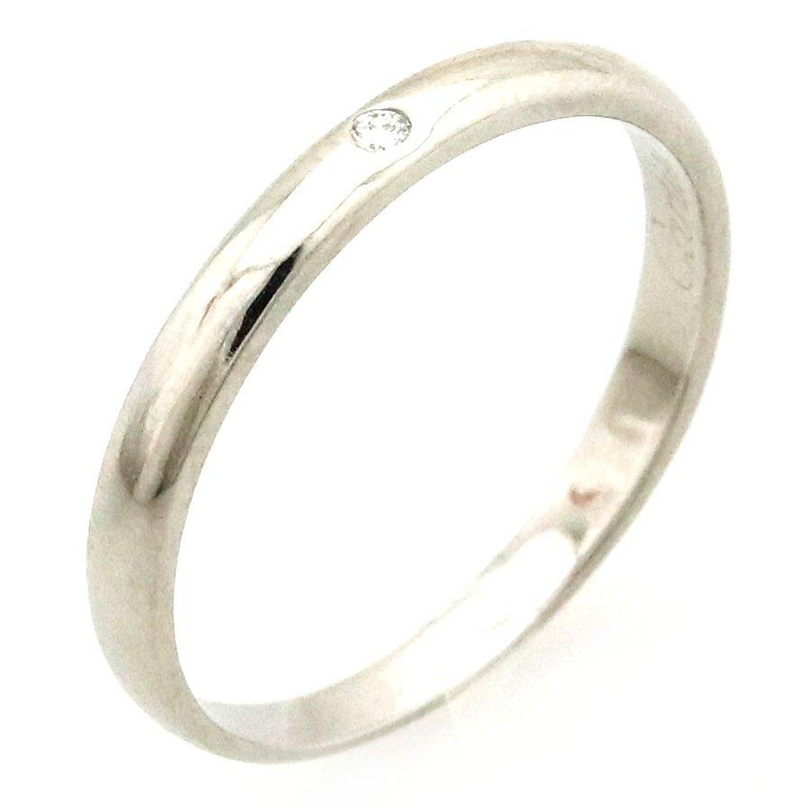 【ジュエリー】【新品仕上げ済】Cartier カルティエ 1895 ウェディング リング 指輪 1PD ダイヤモンド Pt950 プラチナ 13号 #53 【中古】