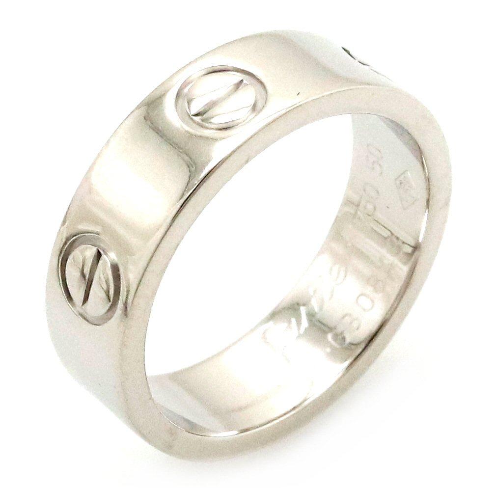 【ジュエリー】【新品仕上げ済】Cartier カルティエ ラブリング 指輪 K18WG 750WG ホワイトゴールド 10号 #50 50号 B4085100 【中古】
